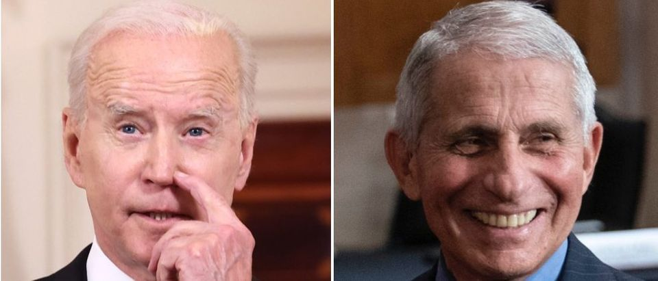 Pres. Joe Biden said he is still confident in Dr. Fauci after his emails were released detailing the early portions of the pandemic. (Anna Moneymaker/Getty Images, Sarah Silbiger-Pool/Getty Images)