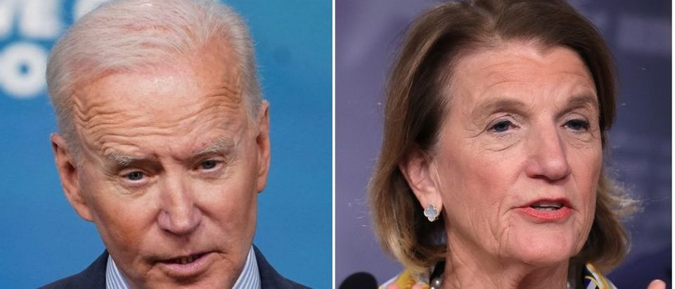 Pres. Joe Biden is moving onto other negotiation tactics after trying to find a bipartisan infrastructure plan with Sen. Capito. (MANDEL NGAN/AFP via Getty Images, Chip Somodevilla/Getty Images)