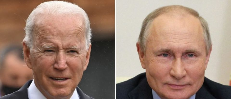 Pres. Biden and Russian Pres. Putin are not expected to hold a joint press conference. (Leon Neal - WPA Pool/Getty Images, SERGEI ILYIN/Sputnik/AFP via Getty Images)