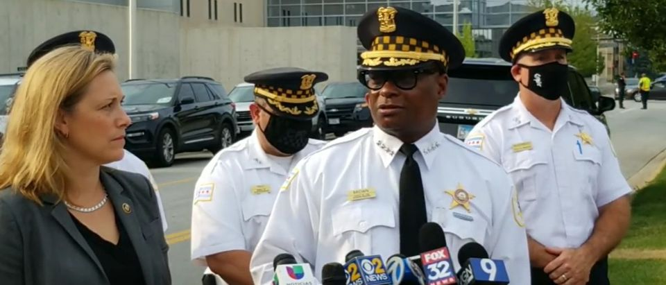 Chicago Police Superintendent Brown speaks about the Wednesday shooting involving two ATF officers and one Chicago Police Officer [Facebook Screenshot Chicago Police Department]