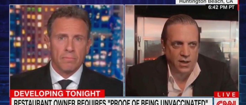 Chris Cuomo speaks to Tony Roman on CNN's Prime Time [Screenshot:CNN]