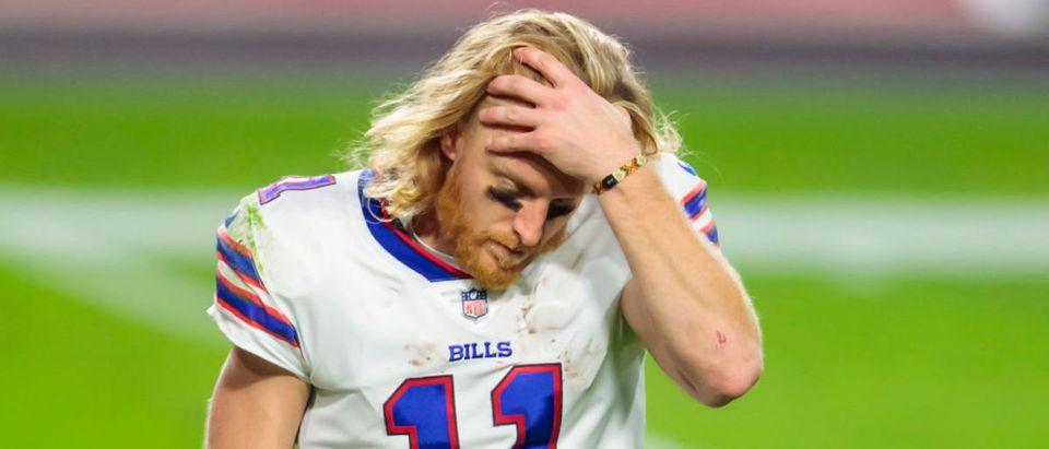 Nov 15, 2020; Glendale, Arizona, USA; Buffalo Bills wide receiver Cole Beasley (11) reacts against the Arizona Cardinals at State Farm Stadium. Mandatory Credit: Mark J. Rebilas-USA TODAY Sports via Reuters