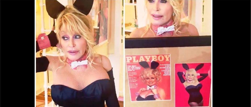 Dolly Parton (Credit: Screenshot/Twitter Video https://twitter.com/DollyParton/status/1417599293935038464)