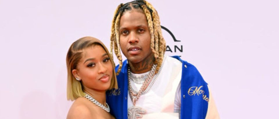 LOS ANGELES, CALIFORNIA - JUNE 27: (L-R) India Royale and Lil Durk attends the BET Awards 2021 at Microsoft Theater on June 27, 2021 in Los Angeles, California. (Photo by Paras Griffin/Getty Images for BET)