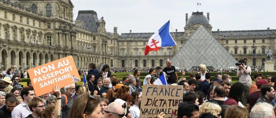 French Anti-Vaccination Protestors Getty
