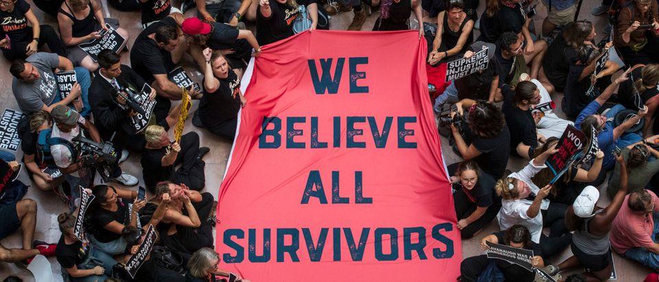 Activists Rally Against Brett Kavanaugh Nomination In Washington DC