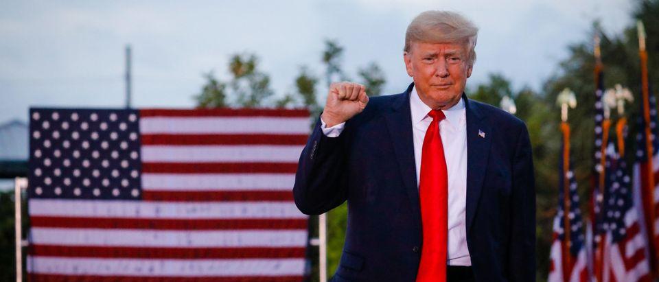 Former President Trump Rallies Supporters In Sarasota, Florida