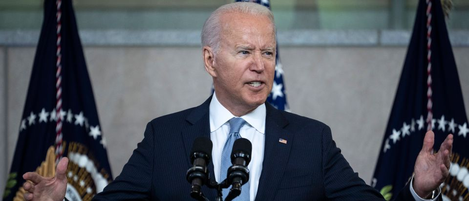 Pres. Joe Biden's administration said China is involved in cyber attacks. (Photo by Drew Angerer/Getty Images)