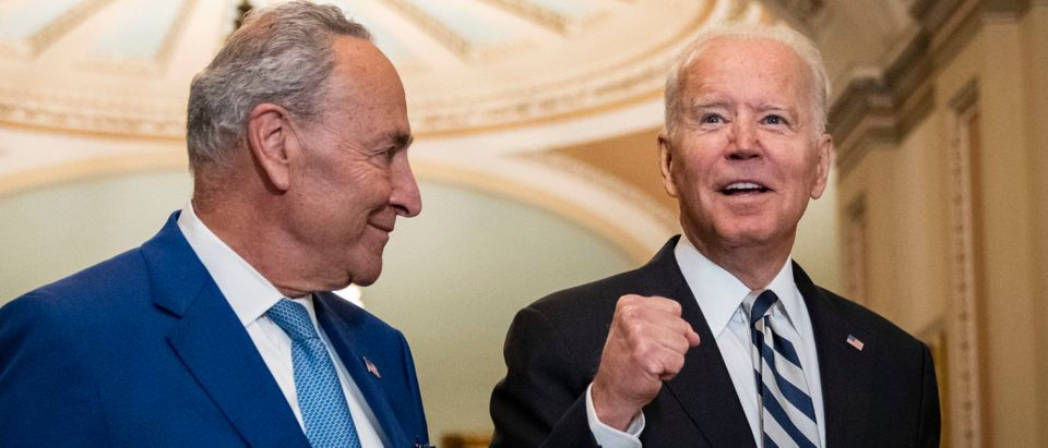 President Biden Attends Lunch With Senate Democrats At U.S. Capitol
