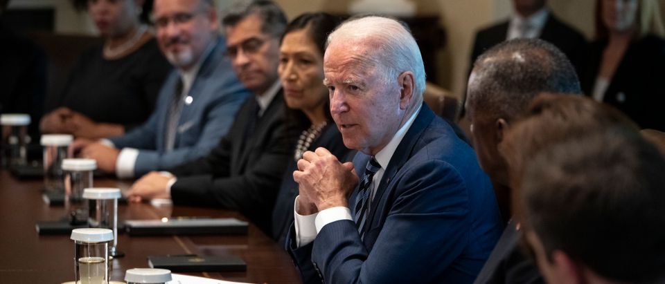 President Biden Holds Cabinet Meeting At White House Marking 6 Months In Office