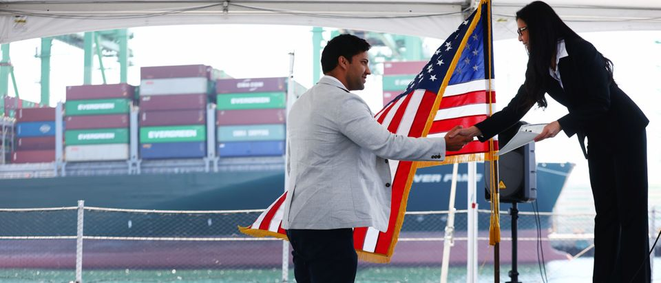 Immigrants Become New U.S. Citizens During Naturalization Ceremony In Southern California