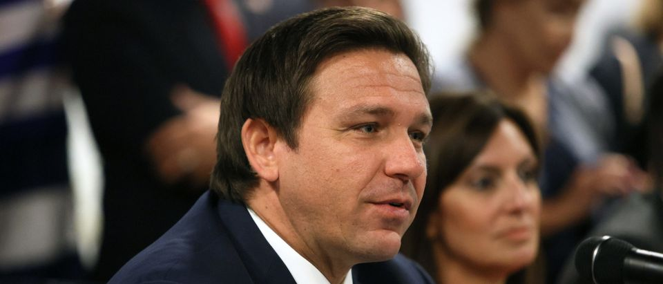 Florida Governor DeSantis Holds Roundtable On Cuba In Miami