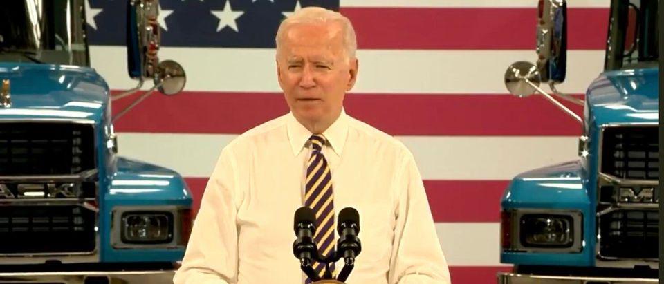 Joe Biden Gives Speech In Leigh Valley, Pennsylvania