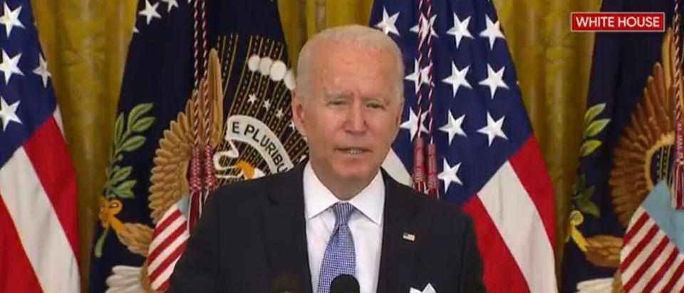 Joe Biden addresses nation on vaccines.