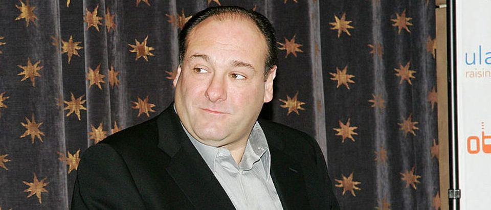 """NEW YORK - DECEMBER 15: Actor James Gandolfini, of the HBO Series """"The Sopranos"""", appears after the Cingular Wireless 'Cingular Video' launch and HBO's content partnership announcement at HBO headquarters December 15, 2005 in New York City. (Photo by Evan Agostini/Getty Images)"""