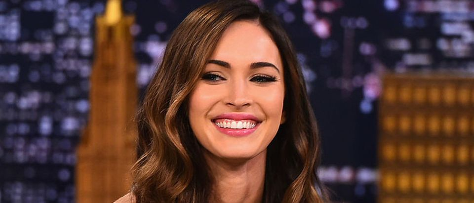 """NEW YORK, NY - AUGUST 06: Megan Fox Visits """"The Tonight Show Starring Jimmy Fallon"""" at Rockefeller Center on August 6, 2014 in New York City. (Photo by Theo Wargo/NBC/Getty Images for """"The Tonight Show Starring Jimmy Fallon"""")"""