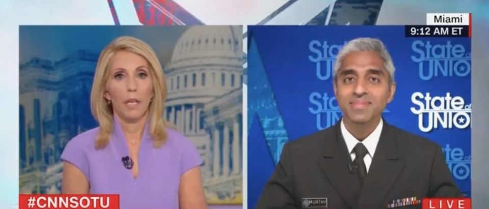 """Vivek Murthy appears on """"State of the Union"""" Screenshot/CNN"""