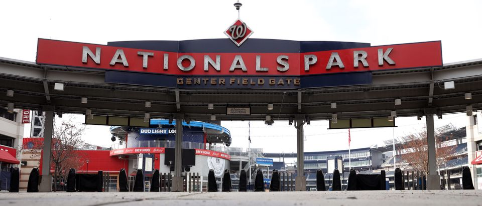 Nationals Park is empty on the scheduled date for Opening Day March 26, 2020 in Washington, DC. (Photo by Win McNamee/Getty Images)