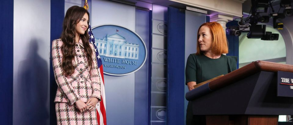 Olivia Rodrigo Arrives At The White House Daily Press Briefing