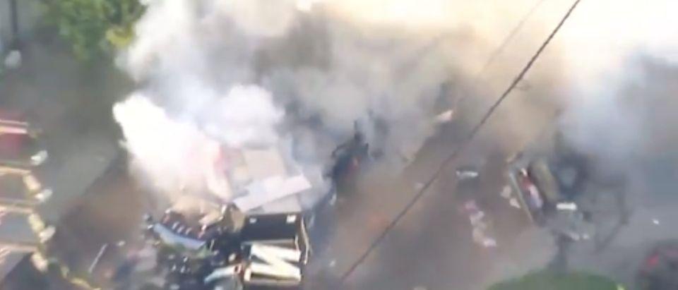 Photo of explosion [Twitter:Screenshot@RyderChristNews]
