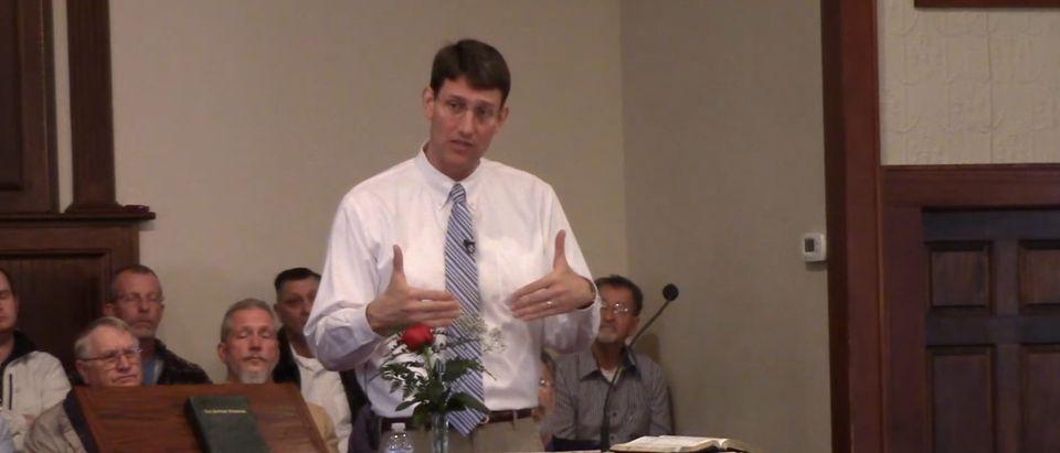 Picture of Jonathan Lotz. [Youtube:Screenshot:South Oak Ridge Baptist Church]
