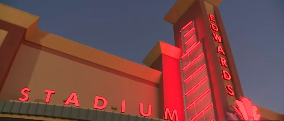 Picture of Regal where the shooting took place. [Youtube:Screenshot:CBS Los Angeles]