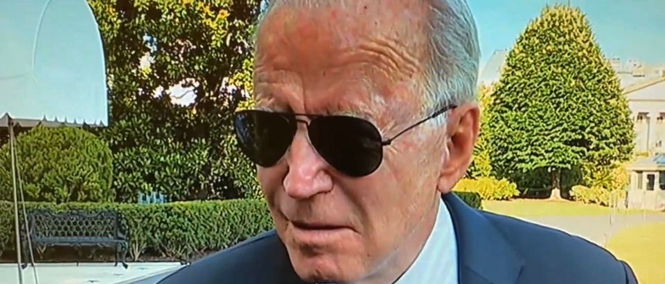 President Joe Biden. (Screenshot/Twitter/KellyO)