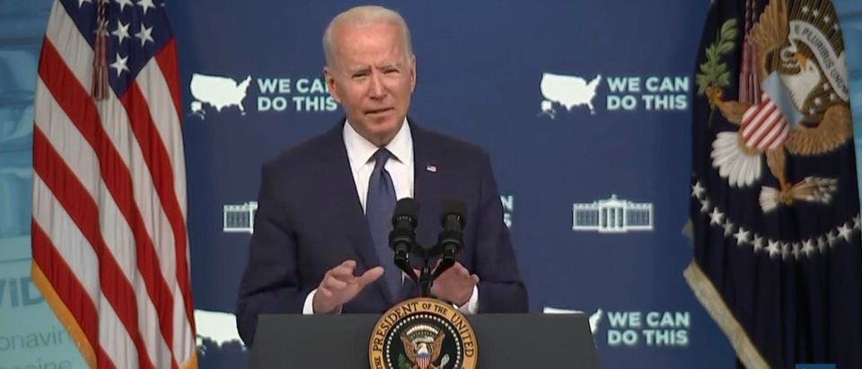 President Joe Biden. (Screenshot/YouTube/WashingtonPost)
