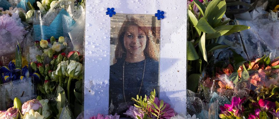 Flowers Surround The Bandstand Memorial To Murdered Sarah Everard