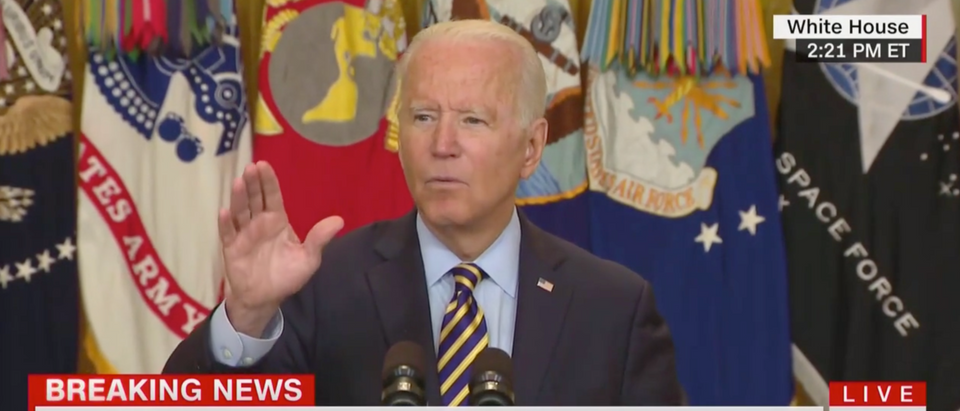President Joe Biden said he trusts the Afghan military, despite reports of more and more Taliban advances. (Screenshot CNN)
