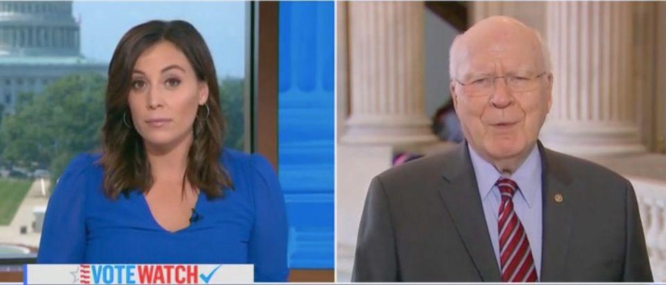Hallie Jackson speaks with Democratic Vermont Sen. Patrick Leahy. Screenshot/MSNBC