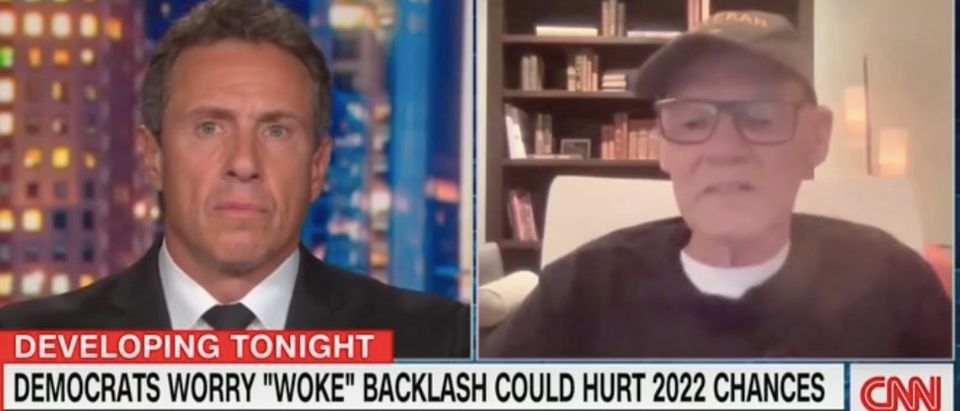 """Chris Cuomo and James Carville appear on """"Cuomo Primetime."""" Screenshot/CNN"""