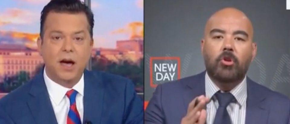 """John Avlon and Joseph McBride appear on """"New Day."""" Screenshot/CNN"""