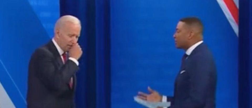 Joe Biden speaks with Don Lemon. Screenshot/CNN