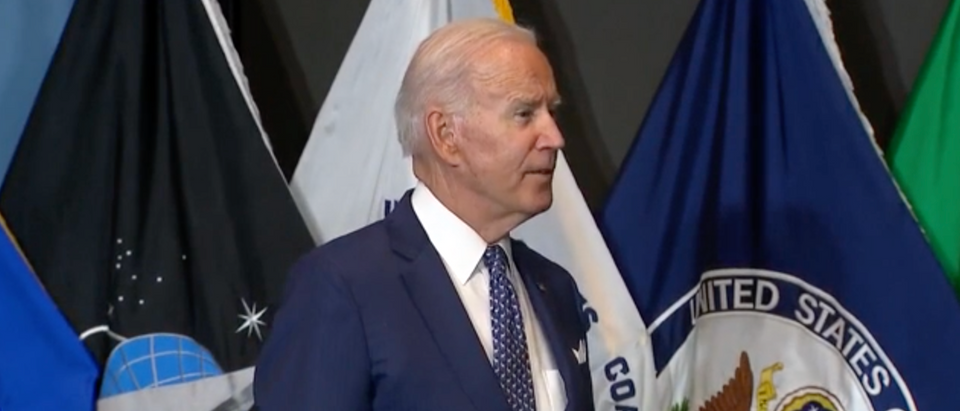 Pres. Joe Biden said he's considering a vaccine mandate for federal employees. (Screenshot YouTube, President Biden Speaks At The Office Of The Director Of National Intelligence)