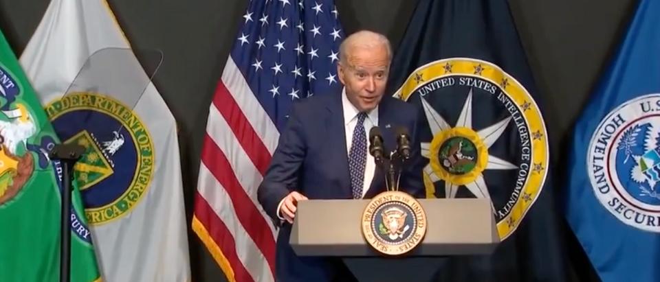 President Biden Speaks At The Office Of The Director Of National Intelligence [Youtube/Screenshot/Fox News]