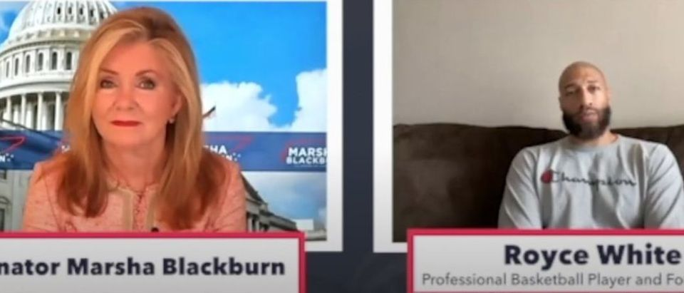 Screen Shot:Youtube:Marsha Blackburn:Royce White