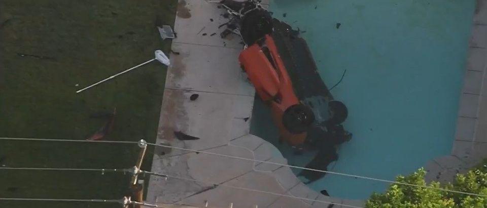Screenshot of the car crash