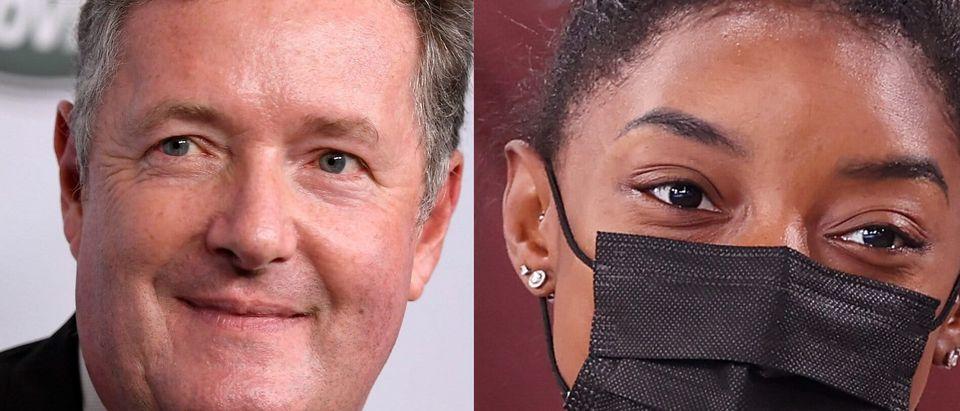 Piers Morgan and Simone Biles