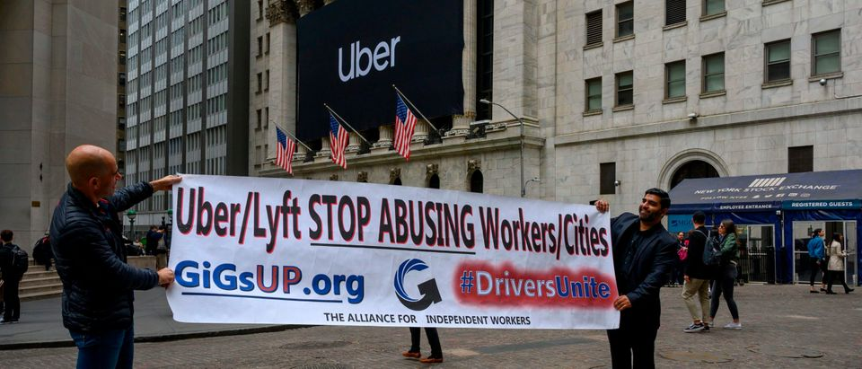 Uber Protest Getty