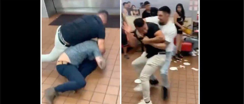 Vegas Fight (Credit: Screenshot/Twitter Video https://twitter.com/VegasIssues/status/1415811233698107392)