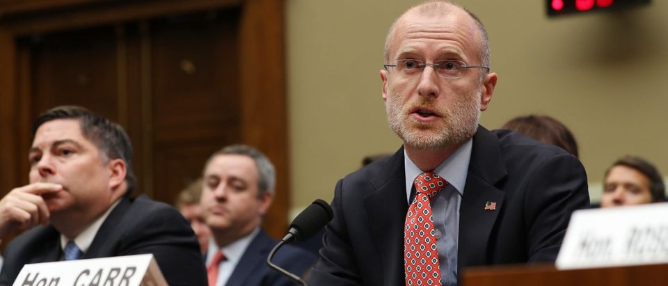 Federal Communication Commission Commissioner Brendan Carr testifies on Capitol Hill. (Photo by Chip Somodevilla/Getty Images)