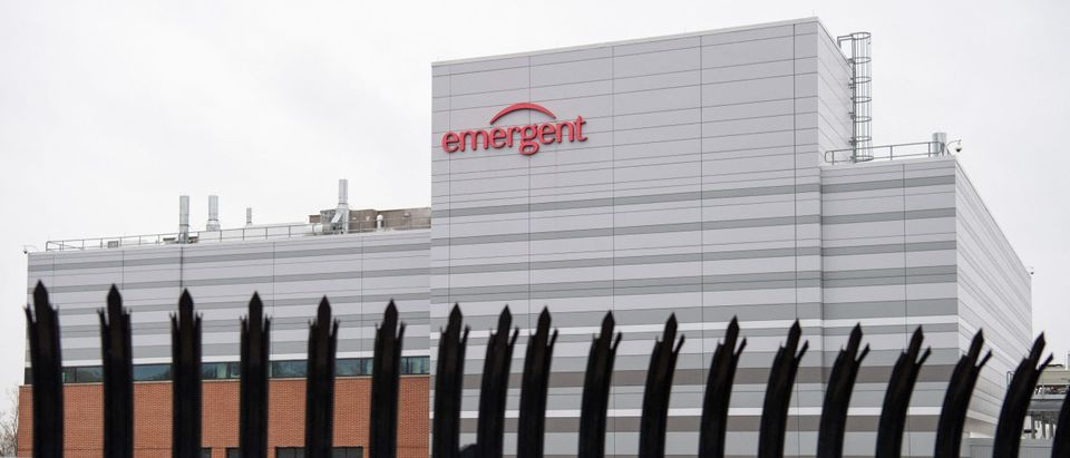 The Emergent BioSolutions plant, a manufacturing partner for Johnson & Johnson's Covid-19 vaccine. (Photo by SAUL LOEB/AFP via Getty Images)