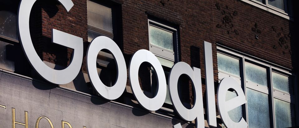 Google's offices stand in downtown Manhattan on October 20, 2020 in New York City. (Photo by Spencer Platt/Getty Images)