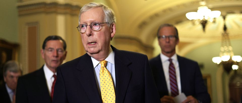 Senators Meet For Weekly Policy Luncheons On Capitol Hill