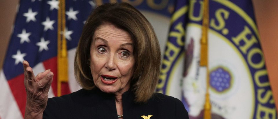 House Speaker Nancy Pelosi (D-CA) Holds Her Weekly News Conference On Capitol Hill