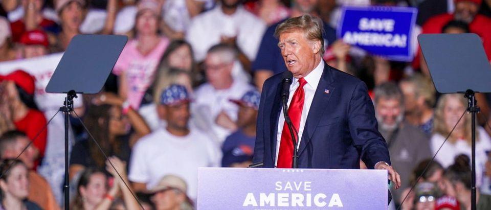 Former President Trump speaks in Alabama