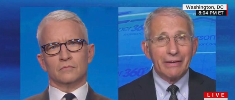 Anthony Fauci speaks on Anderson Cooper 360 [CNN:Screenshot]