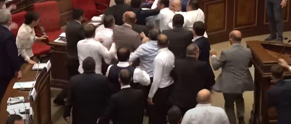 Armenian Parliament-Brawl