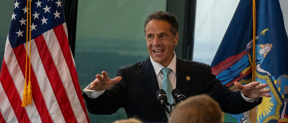 New York Governor Cuomo Makes Announcement About City's Reopening At The World Trade Center